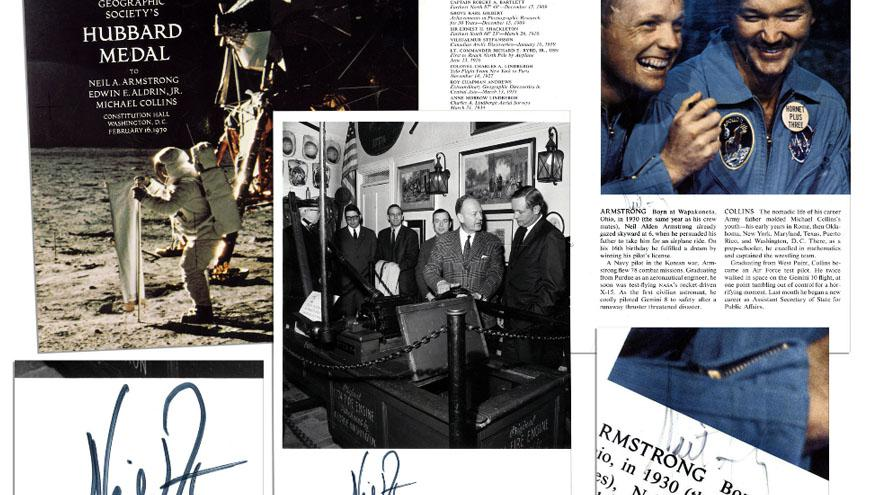 neil armstrong des autographes mis aux ench res sur internet. Black Bedroom Furniture Sets. Home Design Ideas