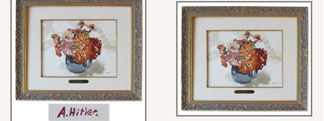 une aquarelle sign e hitler en vente aux ench res. Black Bedroom Furniture Sets. Home Design Ideas