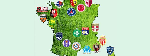 Club Foot Espagne Carte.Ligue 1 Les 20 Clubs Devoilent Leurs Cartes