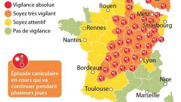 Canicule   plusieurs villes ont battu leur record absolu de chaleur 491fd281689c