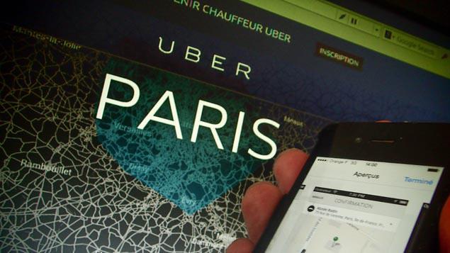 des chauffeurs parisiens d 39 uber cr ent un syndicat. Black Bedroom Furniture Sets. Home Design Ideas