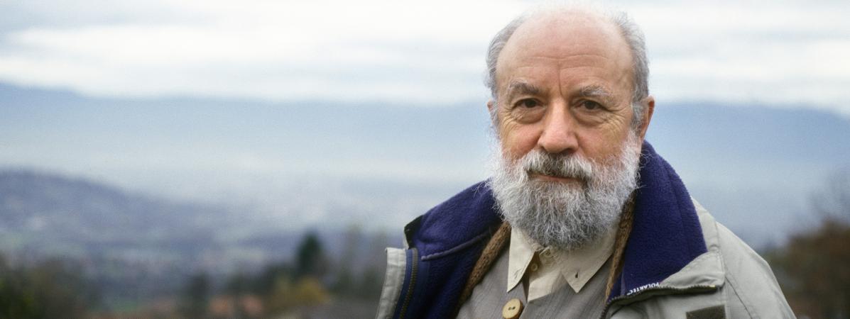 Le romancier Michel Butor chez lui en Haute-Savoie le 19 mars 2016.