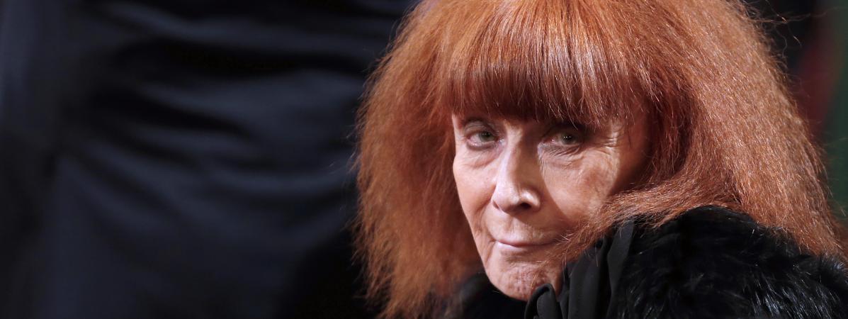 La couturière française Sonia Rykiel, le 26 novembre 2013 à Paris.