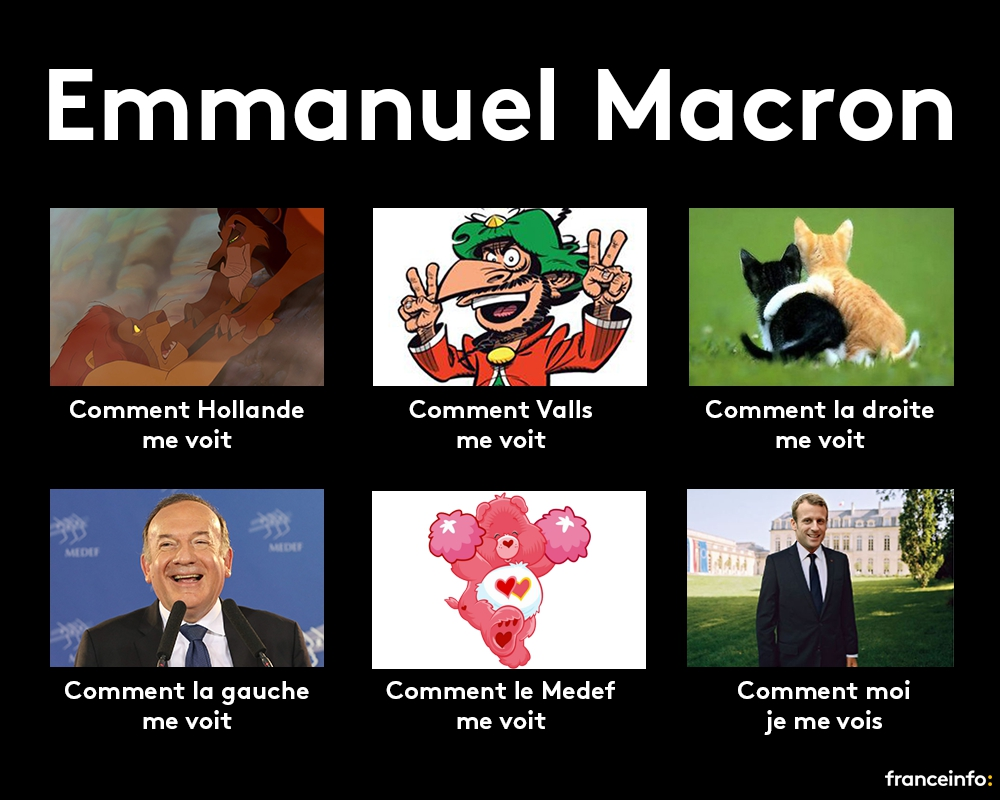 Emmanuel Macron how they see it, how he  sees himself.