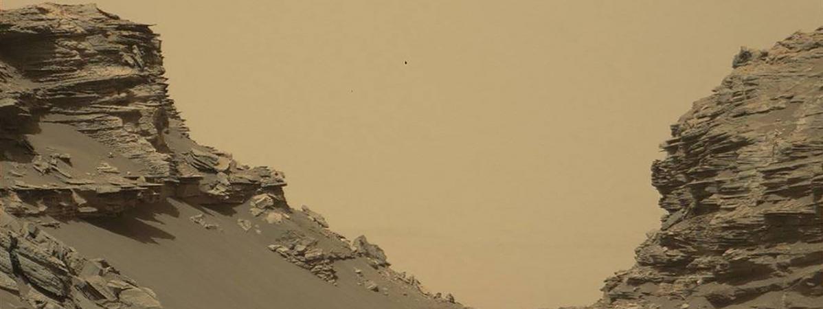 L'une des images de Mars prises par le robot Curiosity, publiée le 9 septembre 2016 par la Nasa.