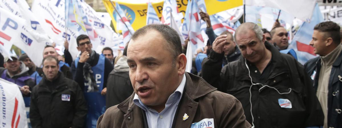 Jean-François Forget, secrétaire général du syndicat pénitentiaire UFAP-UNSA en octobre 2015