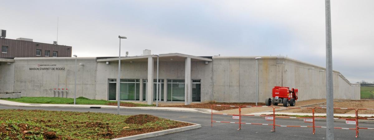 Fin des travaux à la nouvelleprison de Rodez en 2013