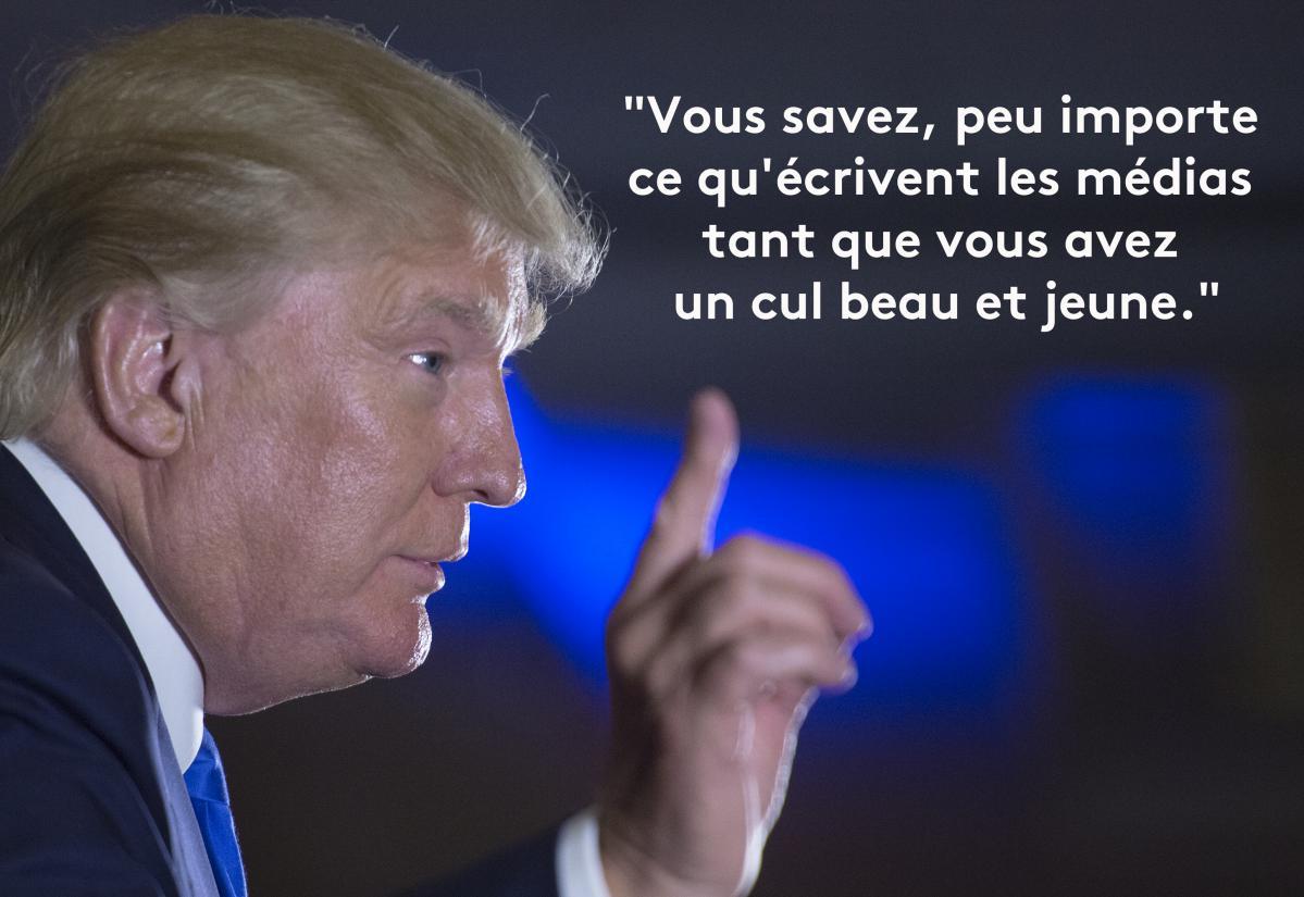 Assez EN IMAGES. Donald Trump en douze phrases sexistes et vulgaires TI25