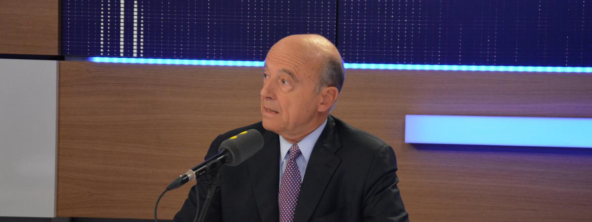 Alain Juppécandidat de la primaire à droite et maire LR de Bordeaux, à franceinfo le 20 septembre 2016.