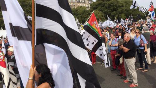 La Breizh manif défile dans les rues de Nantes