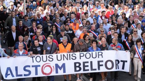VIDEO. Des milliers de personnes défilent à Belfort contre la fermeture d'Alstom
