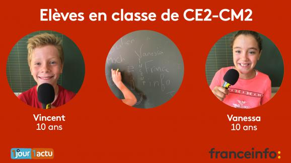 Deux élèves de CM2 posent leurs questions sur les abattoirs et la viande, au micro de franceinfo junior.