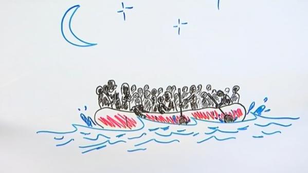 """VIDEO. """"Draw my news"""" : les """"Fantômes du fleuve"""", ces migrants anonymes retrouvés morts près de l'Evros en Grèce"""