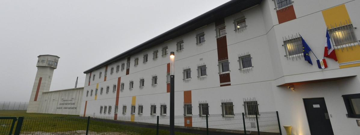 Le Centre pénitentiaire deCondé-sur-Sarthe (Orne), le 14 janvier 2014.