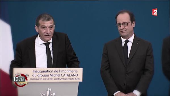 """VIDEO. """"13h15"""". L'imprimerie remise à neuf de Michel Catalano inaugurée vingt mois après la prise d'otages des frères Kouachi"""