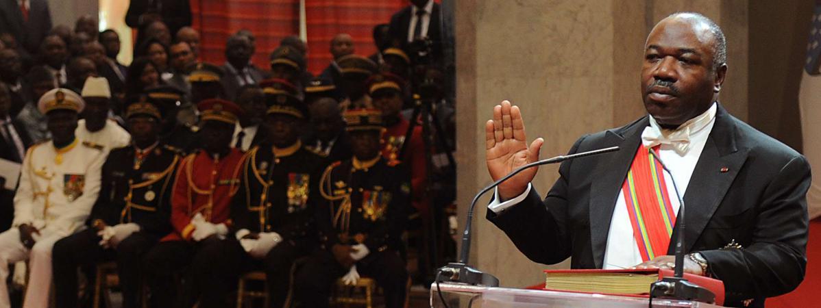 Le président gabonais, Ali Bongo, le 27 septembre 2016 à Libreville (Gabon).