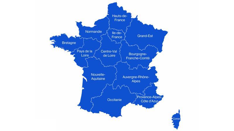Nouvelle Aquitaine, Occitanie, Hauts-de-France... Découvrez la nouvelle carte de France des régions