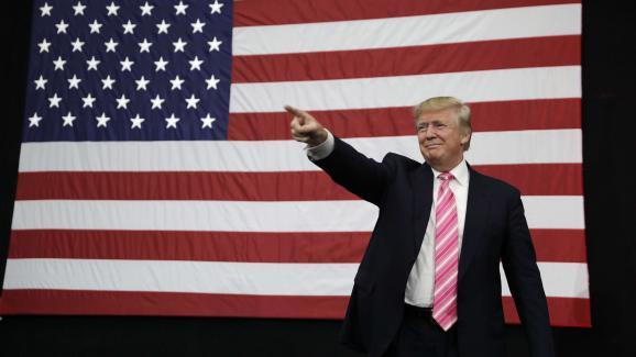 Le candidat républicain à la présidentielle américaine, Donald Trump, le 1er octobre 2016 à Manheim (Etats-Unis).