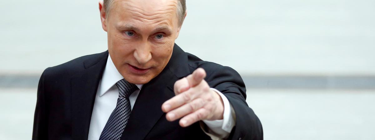 Vladmir Poutine, à Moscou (Russie), le 14 avril 2016.