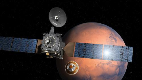Non sans une petite frayeur, l'atterrisseur européen Schiaparelli a commencé sa descente vers la planète Mars