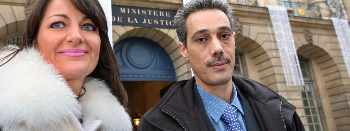 Omar Raddad et son avocateSylvie Noachovitch en 2008.