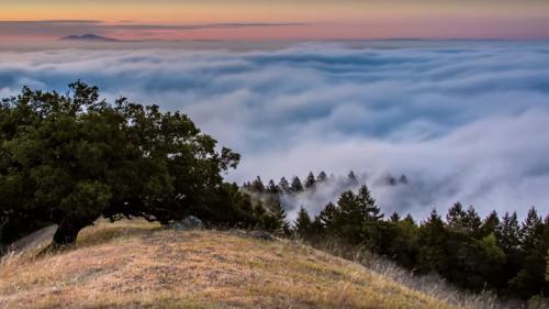 VIDEO. Ce photographe américain a capturé des levers et couchers de soleil brumeux pendant un an et demi
