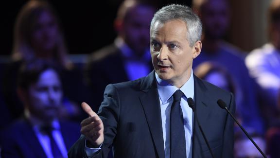Bruno Le Maire lors du deuxième débat télévisé entre les candidats à la primaire à droite, le 3 novembre 2016.