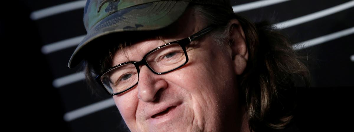 Le réalisateur Michael Moore aux 20e Webby Awards à Manhattan (New York, Etats-Unis), en mai 2016.