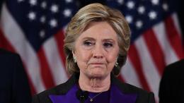 Hillary Clinton lors de son discours de défaite le 9 novembre 2016, à New York.