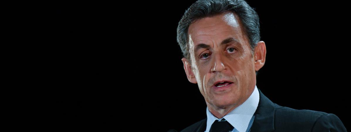 Nicolas Sarkozy, en meeting dans son ancien fief de Neuilly-sur-Seine (Hauts-de-Seine), le 7 novembre.