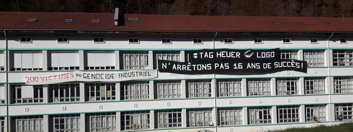L'usine de lunettes Logo à l'entrée de Morez, dans le Jura.