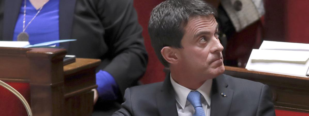 Manuel Valls à l\'Assemblée nationale, le 29 novembre 2016.