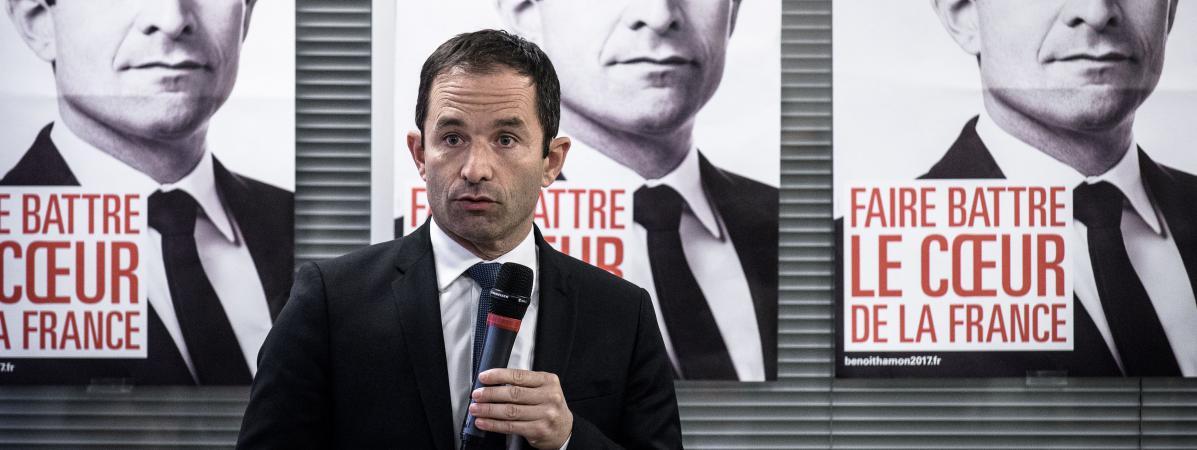 Benoit Hamon, candidait à la primaire de la gauche, à Paris, le 7 novembre 2016.
