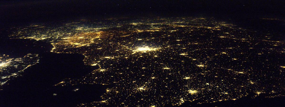 Les côtes bretonnes vues depuis la Station spatiale internationale, sous l\'œil du spationaute Thomas Pesquet, mardi 6 décembre.