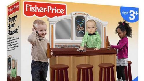 Non, Fisher-Price n'a pas conçu de jouet pour enfants alcooliques