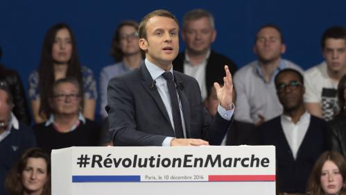 VIDEO. Présidentielle : en meeting à Paris, Macron se pose en