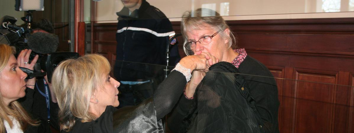 Jacqueline Sauvage lors de son procès en appel en décembre 2015, au tribunal de Blois