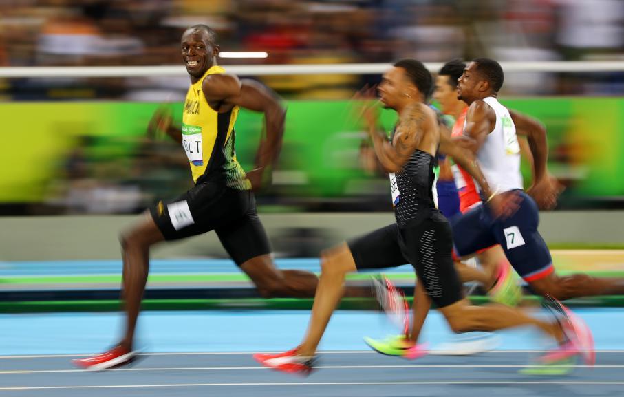 Le Jamaïcain Usain Bolt lors de la demi-finale du 100 m aux Jeux olympiques de Rio de Janeiro (Brésil), le 14 août 2016.