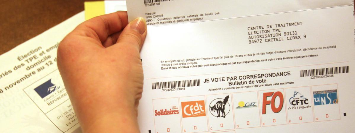 89aab20c364 Un formulaire de vote aux élections professionnelles de 2012 pour les TPE  et les employés à