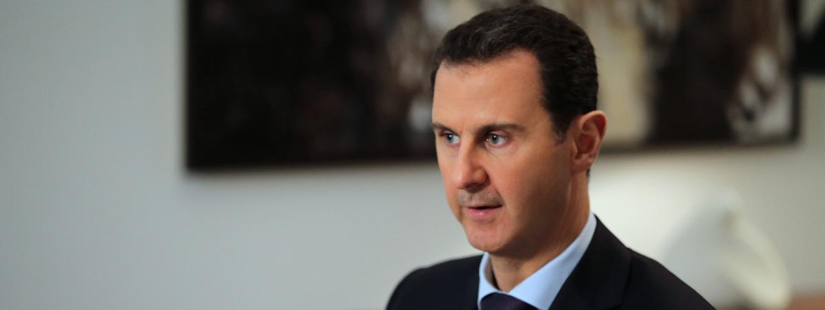 Le président syrien Bachar Al-Assad, ici en février 2016, a donné son point de vue sur François Fillon, candidat à l\'élection présidentielle en France et sur Donald Trump, futur président des États-Unis.