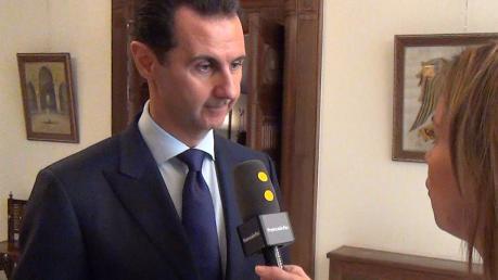 """DOCUMENT FRANCEINFO. Bachar Al-Assad: """"Si Monsieur Fillon met en application ce qu'il dit, ce sera très bien"""""""