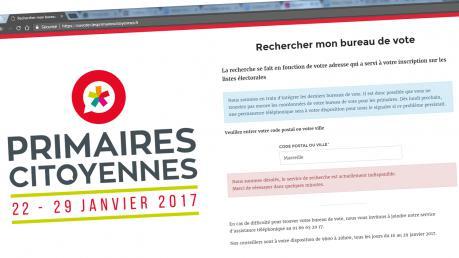 Primaire de la gauche : de nombreux bugs sur le site officiel destiné à trouver son bureau de vote