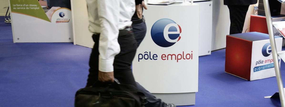 Un stand Pôle emploi à Paris, en 2014 (photo d\'illustration)