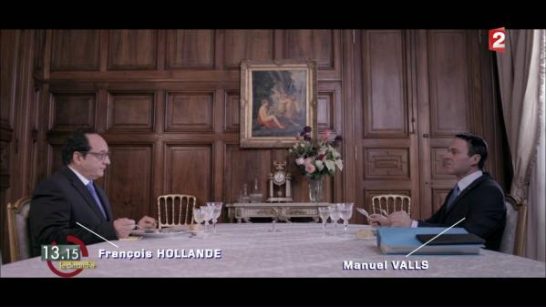"""VIDEO. """"13h15"""". Les Verbatims : quand François Hollande déjeune avec Manuel Valls après son """"Je me prépare"""""""