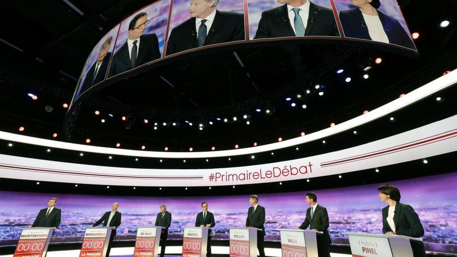 debat televise valls hamon