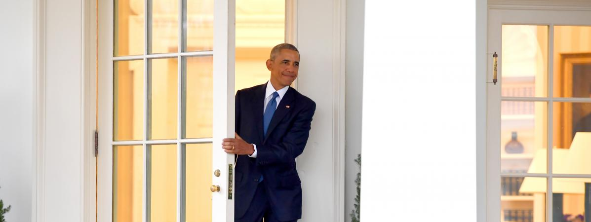 Je serai vos c t s avant de quitter la maison for Barack obama a la maison blanche