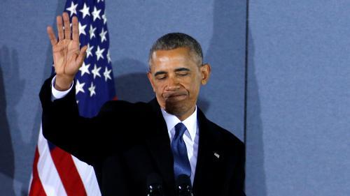 """VIDEO. """"Vous avez démontré la force que peut avoir l'espoir"""" : les adieux de Barack Obama à ses collaborateurs"""