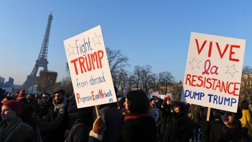VIDEOS. Manifestations dans le monde entier pour les droits des femmes et contre Trump