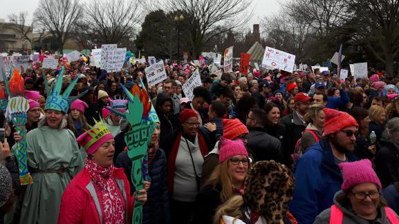 Manifestation anti-Trump le 21 janvier 2017 à Washington (États-Unis)