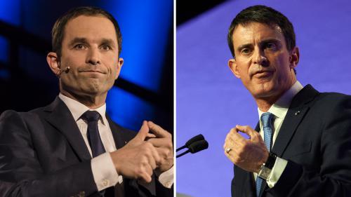 Primaire de la gauche: 49.3, PMA, diesel... Ce que Benoît Hamon et Manuel Valls pensent de 12propositions phares